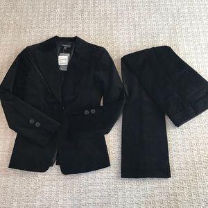 NWT Bebe Black Corduroy Suit